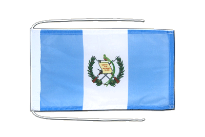 Flag with ropes Guatemala - 8x12""