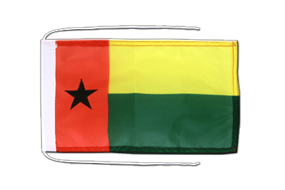Flag with ropes Guinea-Bissau - 8x12""