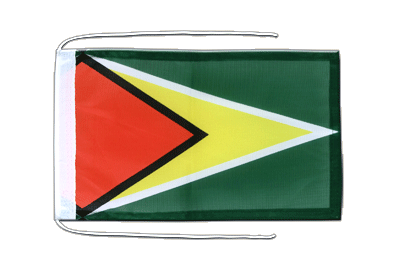 Flag with ropes Guyana - 8x12""
