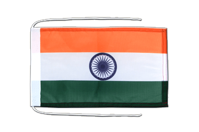 Flag with ropes India - 8x12""