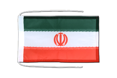 Flag with ropes Iran - 8x12""