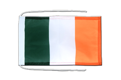 Flag with ropes Ireland - 8x12""