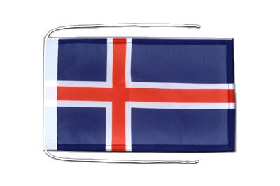 Flag with ropes Iceland - 8x12""