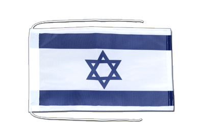 Flag with ropes Israel - 8x12""