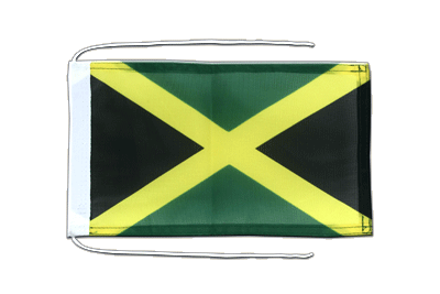 Flag with ropes Jamaica - 8x12""