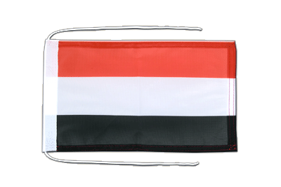 Flag with ropes Yemen - 8x12""