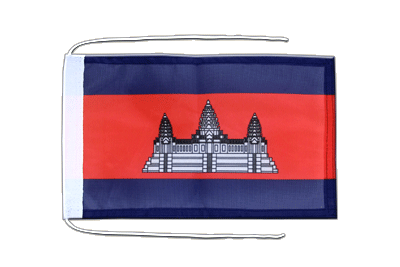 Flag with ropes Cambodia - 8x12""