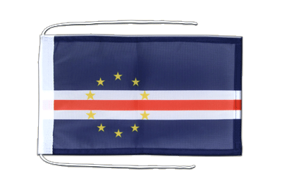 Flag with ropes Cape Verde - 8x12""