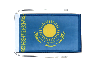 Flag with ropes Kazakhstan - 8x12""