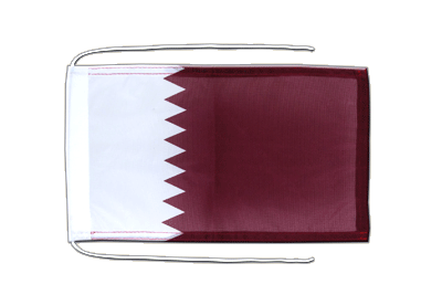 Flag with ropes Qatar - 8x12""