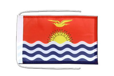 Flag with ropes Kiribati - 8x12""