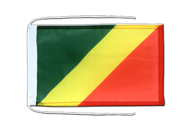 Flag with ropes Congo - 8x12""