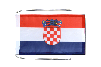Flag with ropes Croatia - 8x12""