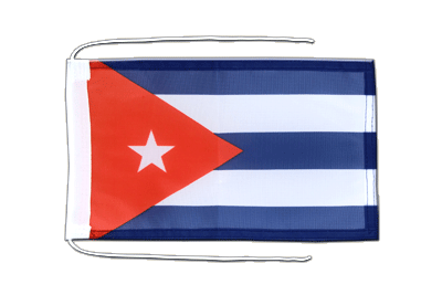 Flag with ropes Cuba - 8x12""