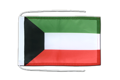Flag with ropes Kuwait - 8x12""