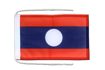 Flag with ropes Laos - 8x12""