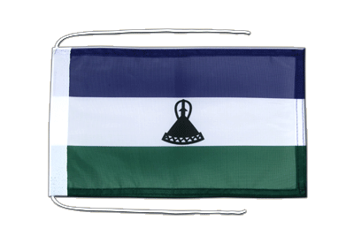 Flag with ropes Lesotho new - 8x12""