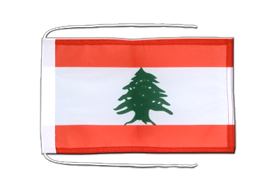 Flag with ropes Lebanon - 8x12""