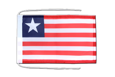 Flag with ropes Liberia - 8x12""