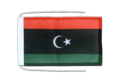 Flag with ropes Kingdom of Libya 1951-1969 Opposition Flag Anti-Gaddafi Forces - 8x12""