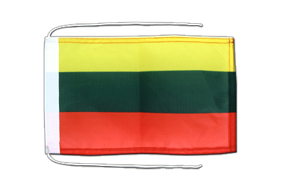 Flag with ropes Lithuania - 8x12""