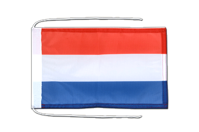 Flag with ropes Luxembourg - 8x12""