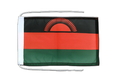 Flag with ropes Malawi new - 8x12""