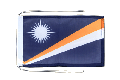 Flag with ropes Marshall Islands - 8x12""