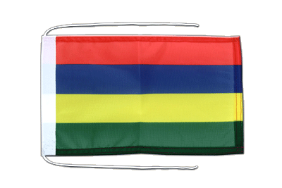 Flag with ropes Mauritius - 8x12""