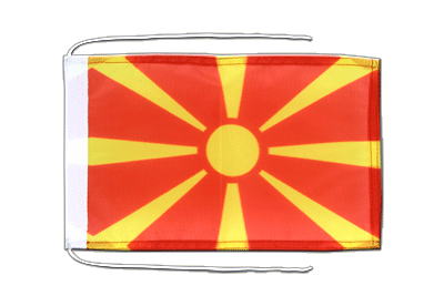 Flag with ropes Macedonia - 8x12""