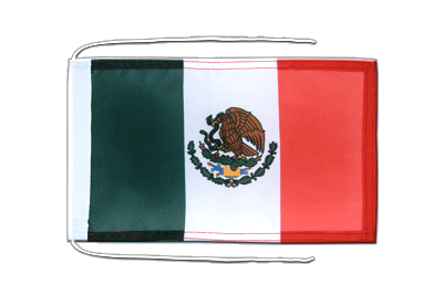 Flag with ropes Mexico - 8x12""