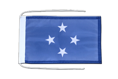 Flag with ropes Micronesia - 8x12""