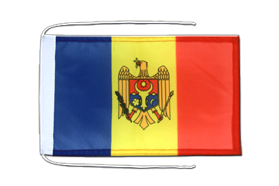 Flag with ropes Moldova - 8x12""