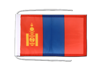 Flag with ropes Mongolia - 8x12""