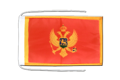 Flag with ropes Montenegro - 8x12""