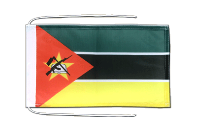 Flag with ropes Mozambique - 8x12""