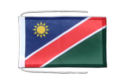 Flag with ropes Namibia - 8x12""