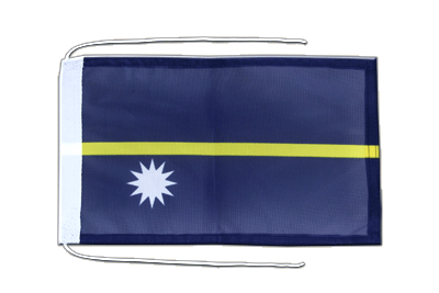 Flag with ropes Nauru - 8x12""