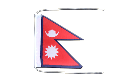 Flag with ropes Nepal - 8x12""