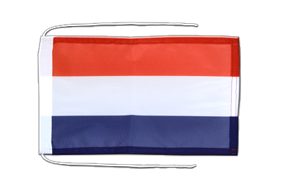 Flag with ropes Netherlands - 8x12""