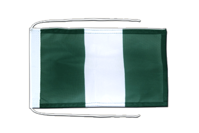 Flag with ropes Nigeria - 8x12""
