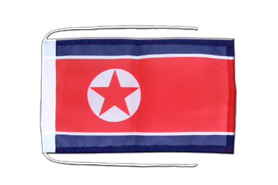 Flag with ropes North corea - 8x12""