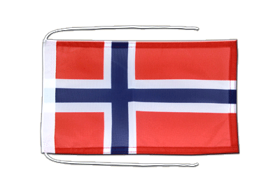 Flag with ropes Norway - 8x12""