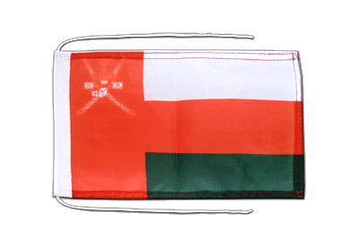 Flag with ropes Oman - 8x12""