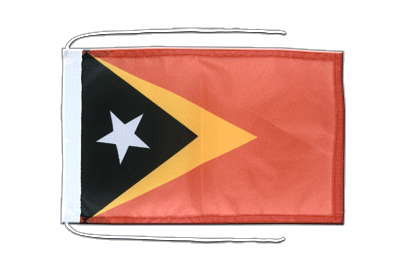 Flag with ropes East Timor - 8x12""