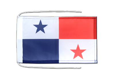 Flag with ropes Panama - 8x12""