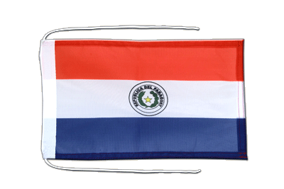 Flag with ropes Paraguay - 8x12""