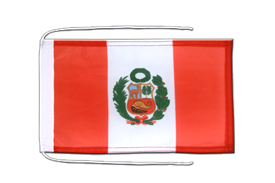 Flag with ropes Peru - 8x12""