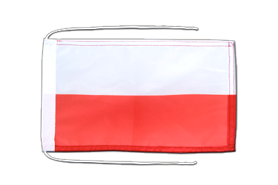 Flag with ropes Poland - 8x12""