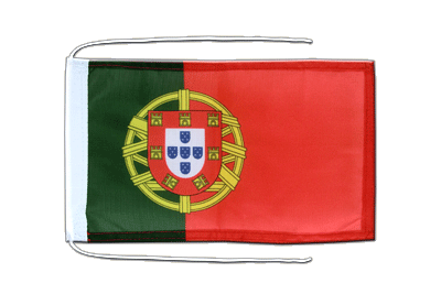 Flag with ropes Portugal - 8x12""
